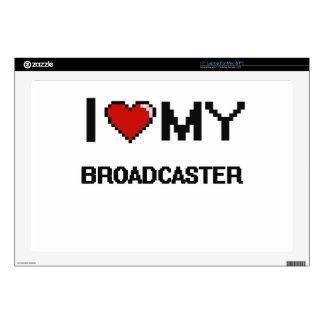 "I love my Broadcaster 17"" Laptop Skins"