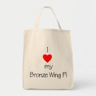 I Love My Bronze Wing Pi Tote Bag