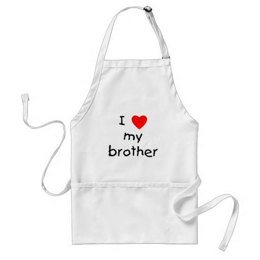 I Love My Brother Adult Apron