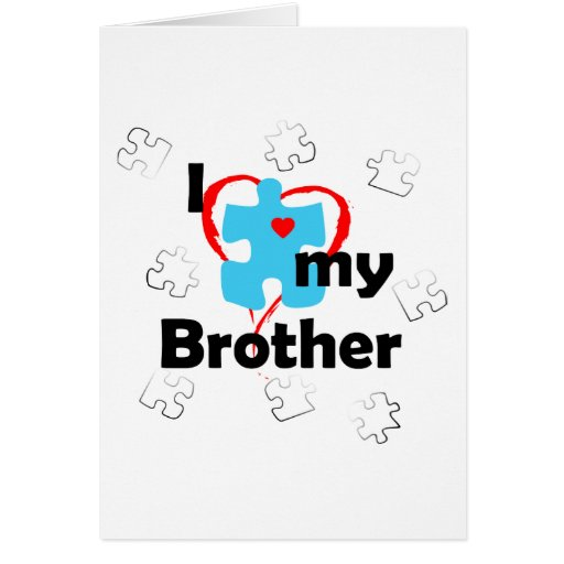 I Love My Brother - Autism Cards