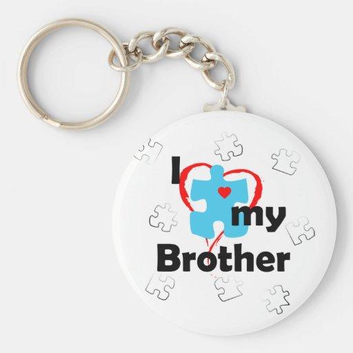 I Love My Brother - Autism Keychain