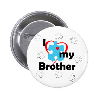 I Love My Brother - Autism Pinback Button