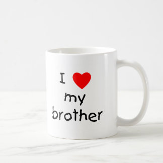 I Love My Brother Classic White Coffee Mug