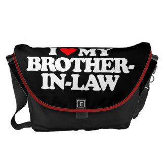 I LOVE MY BROTHER-IN-LAW COURIER BAG