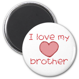I love my brother refrigerator magnet