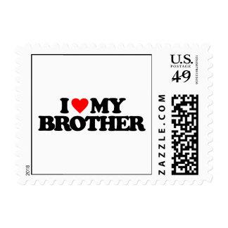 I LOVE MY BROTHER POSTAGE