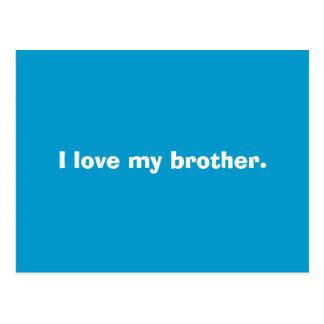 I love my brother. postcard