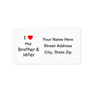 I Love My Brother & Sister Label
