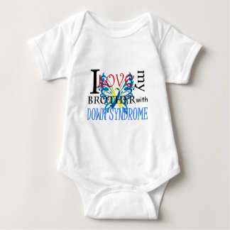 I Love My Brother with Down Syndrome Baby Bodysuit