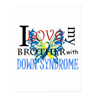 I Love My Brother with Down Syndrome Postcard