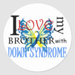 I Love My Brother with Down Syndrome Round Sticker