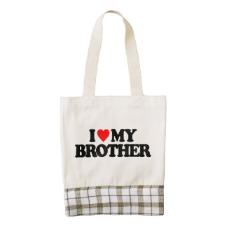 I LOVE MY BROTHER ZAZZLE HEART TOTE BAG