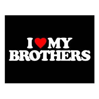 I LOVE MY BROTHERS POSTCARD