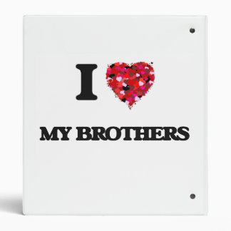 I Love My Brothers Vinyl Binder