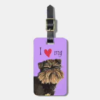 I Love my Brussels Griffon Bag Tag