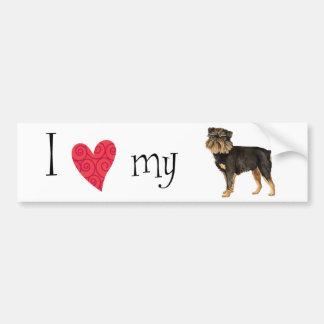 I Love my Brussels Griffon Bumper Sticker