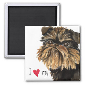 I Love my Brussels Griffon Magnet