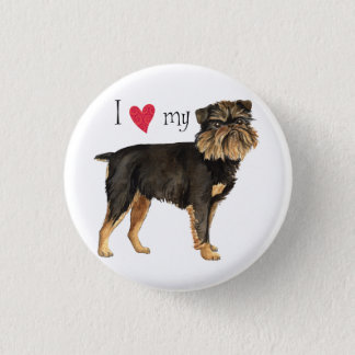 I Love my Brussels Griffon Pinback Button