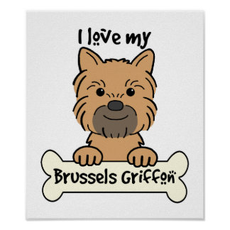 I Love My Brussels Griffon Poster