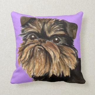 I Love my Brussels Griffon Throw Pillow