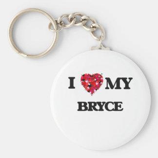 I love my Bryce Basic Round Button Keychain