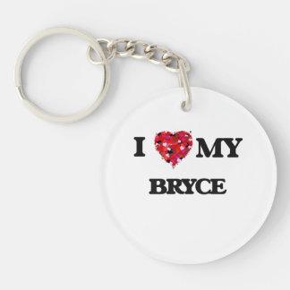 I love my Bryce Single-Sided Round Acrylic Keychain