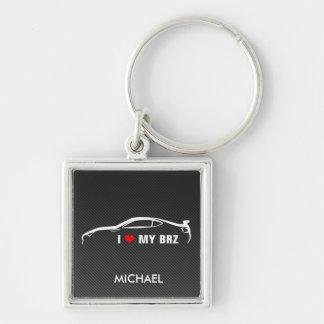 I Love My BRZ Keychain