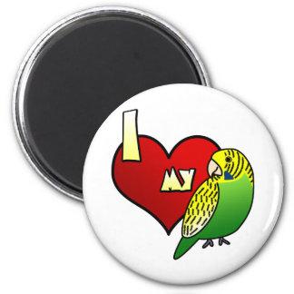 I Love my Budgerigar 2 Inch Round Magnet