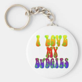 I Love My Budgies Keychain