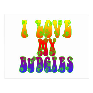 I Love My Budgies Postcard