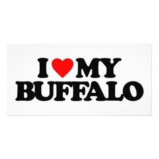 I LOVE MY BUFFALO CUSTOM PHOTO CARD