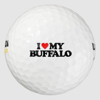 I LOVE MY BUFFALO GOLF BALLS