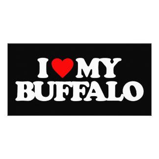 I LOVE MY BUFFALO PERSONALIZED PHOTO CARD