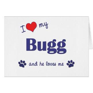 I Love My Bugg (Male Dog) Cards