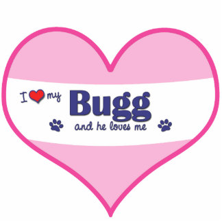 I Love My Bugg (Male Dog) Cut Outs
