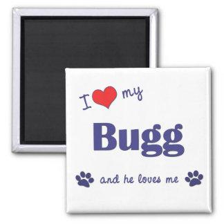 I Love My Bugg (Male Dog) Fridge Magnets