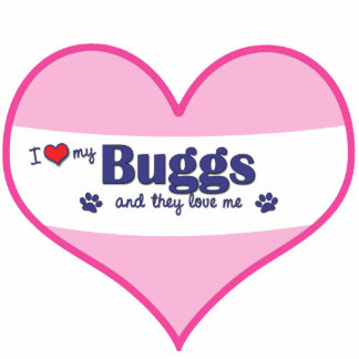 I Love My Buggs (Multiple Dogs) Photo Cut Out