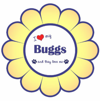 I Love My Buggs (Multiple Dogs) Photo Sculpture