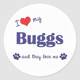 I Love My Buggs (Multiple Dogs) Sticker