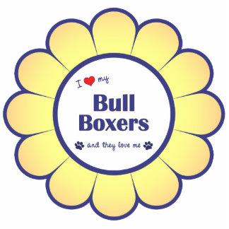 I Love My Bull Boxers (Multiple Dogs) Statuette