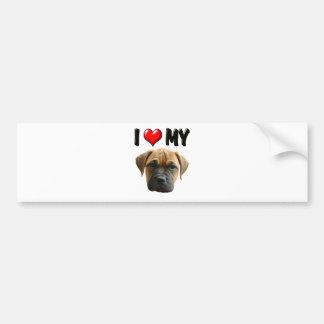 I Love My Bull Mastiff Bumper Sticker