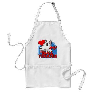 I Love my Bull Terrier Adult Apron