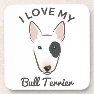 """I Love My Bull Terrier"" Coaster Set"