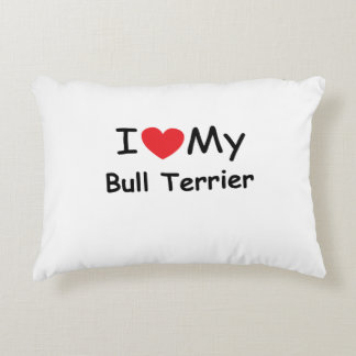 I love my Bull Terrier dog Accent Pillow