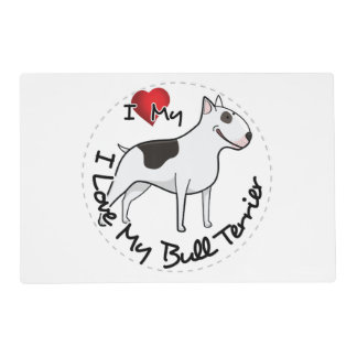 I Love My Bull Terrier Dog Placemat