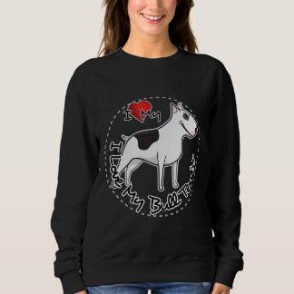 I Love My Bull Terrier Dog Sweatshirt