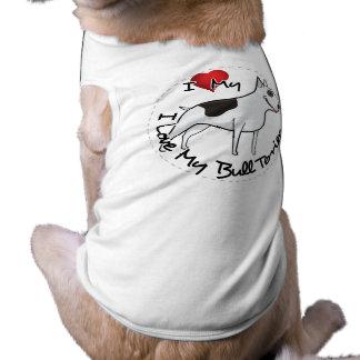 I Love My Bull Terrier Dog Tee