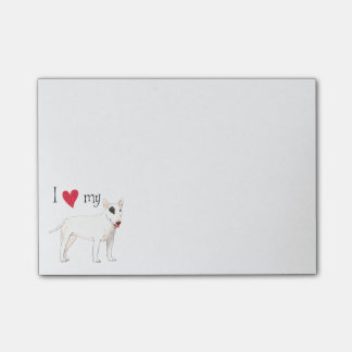 I Love my Bull Terrier Post-it® Notes