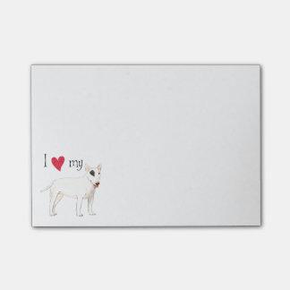 I Love my Bull Terrier Post-it® Notes