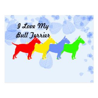 I Love My Bull Terrier Postcard
